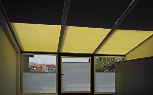 """Плиссированные двойные шторы, модель """"ВВ""""."""