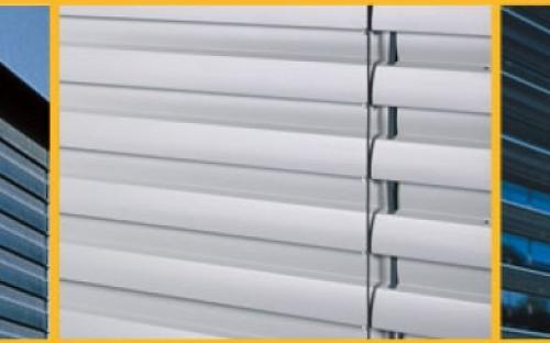"""Наружные ламельные горизонтальные шторы, модель """"Z-90""""."""